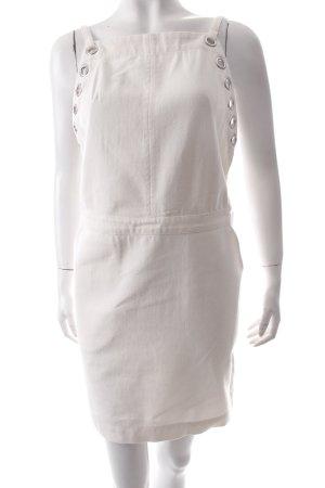 H&M Trägerkleid wollweiß Ösenelemente