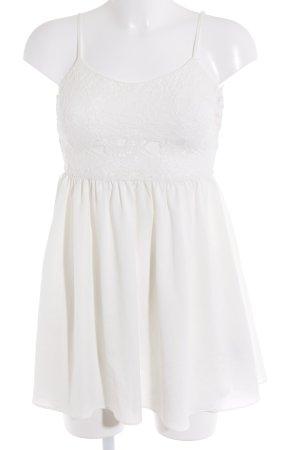 H&M Trägerkleid wollweiß Romantik-Look