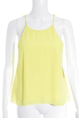 H&M Trägertop gelb minimalistischer Stil