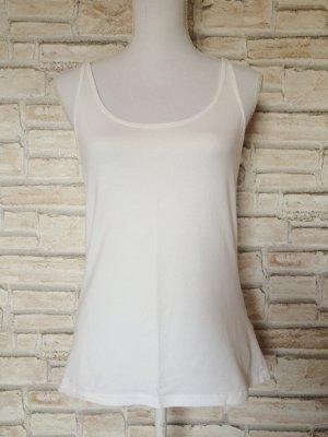 H&M Trägertop Träger Top weiß Basic Basictop Unterhemd