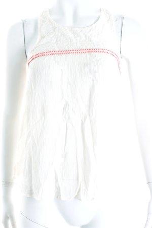 H&M Trägertop weiß-rot Aztekenmuster Gypsy-Look
