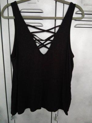 H&M Trägertshirt in Schwarz