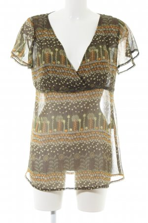 H&M Transparenz-Bluse grafisches Muster Casual-Look