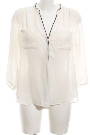 H&M Transparenz-Bluse creme Business-Look