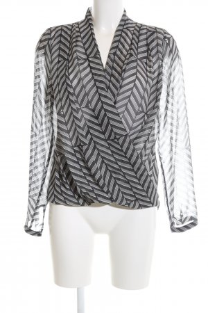 H&M Transparent Blouse black-white striped pattern casual look