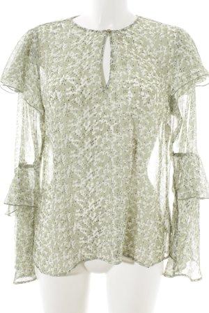 H&M Transparenz-Bluse abstrakter Druck Casual-Look