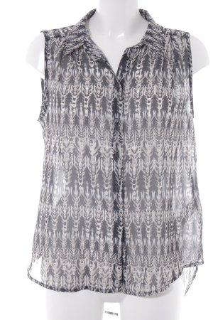 H&M Transparenz-Bluse Aztekenmuster Casual-Look