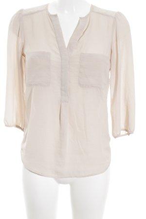 H&M Transparenz-Bluse creme Elegant