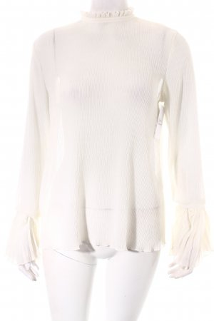 H&M Transparenz-Bluse creme Romantik-Look