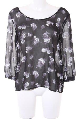 H&M Transparenz-Bluse florales Muster schlichter Stil