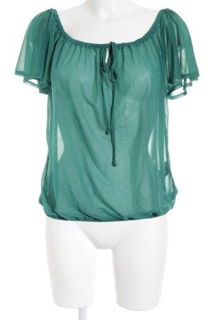 H&M Transparenz-Bluse grün Transparenz-Optik
