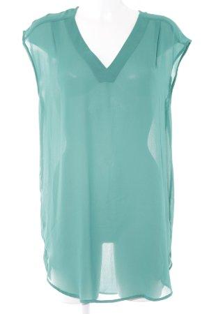 H&M Transparenz-Bluse grün-türkis Transparenz-Optik