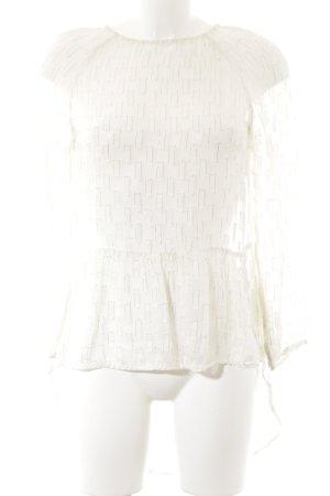 H&M Transparenz-Bluse mehrfarbig Glitzer-Optik