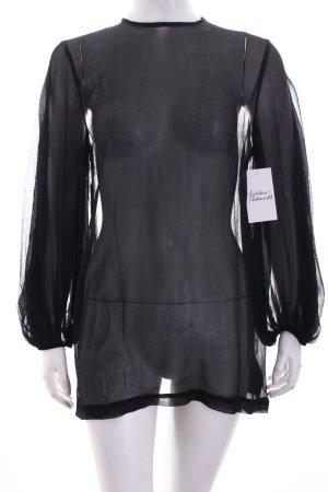 H&M Transparenz-Bluse schwarz Casual-Look