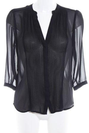 H&M Transparenz-Bluse schwarz Transparenz-Optik