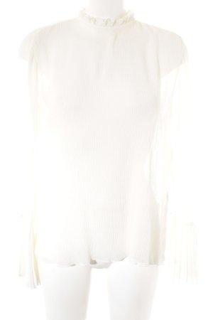 H&M Transparenz-Bluse weiß Elegant