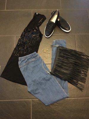 H&M Treggings Jeans Gr. M Blau