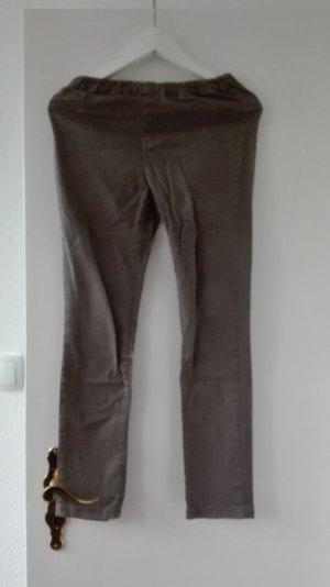 H&M Treggings Skinny grün khaki S 36 XS 34 Hose 7/8 kleine Frauen gekürzt petite