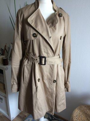 H&M Trenchcoat 38 M beige Herbst Frühling Mantel Jacke