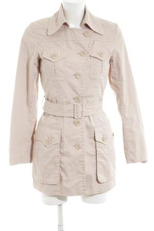 H&M Trenchcoat wollweiß klassischer Stil