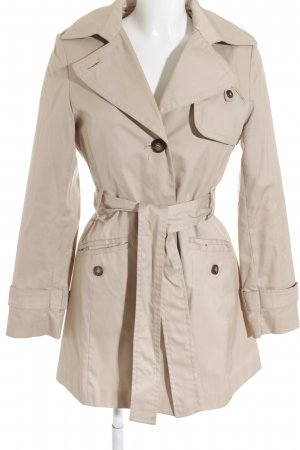 H&M Trenchcoat beige-schwarz Business-Look