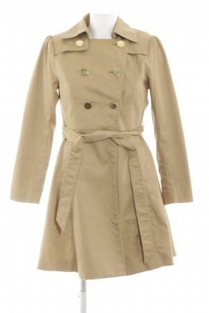 H&M Trenchcoat creme-goldfarben Business-Look