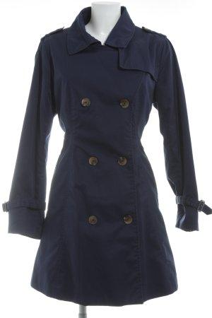 H&M Trenchcoat dunkelblau klassischer Stil
