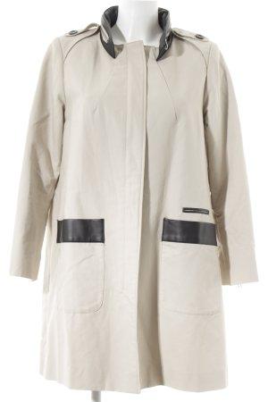 H&M Trenchcoat hellbeige-schwarz Business-Look