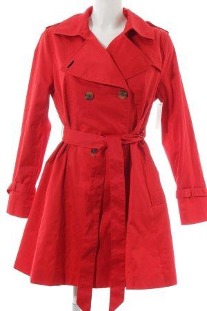 H&M Trenchcoat rot-hellbeige Brit-Look