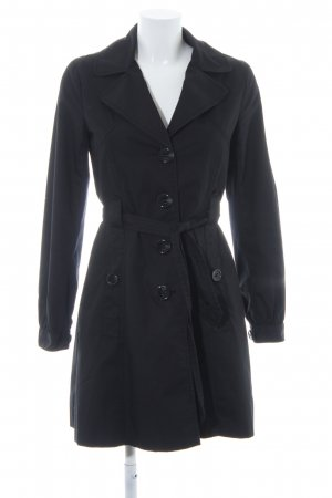 H&M Trenchcoat schwarz Casual-Look