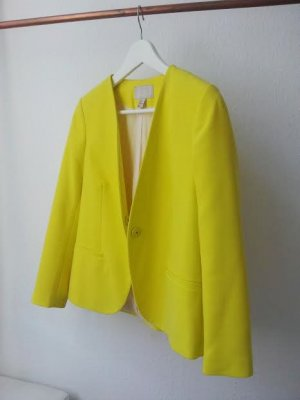 H&M Trend Blazer in Zitronengelb Fashion It-Piece Größe 38