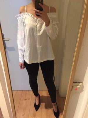 H&M Trend Bluse Hemd Off-Shoulder Oberteil Top neu!
