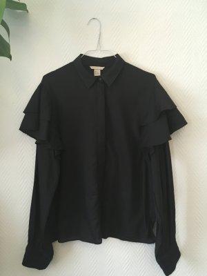 H&M Trend Bluse mit Volants an den Schultern