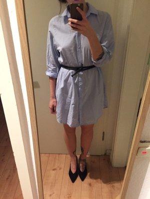 H&M Trend Blusen Hemd Kleid Tunika hellblau
