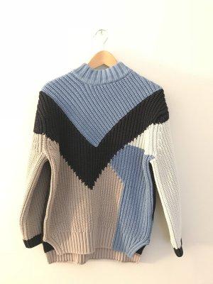 H&M Pullover a maglia grossa multicolore Cotone