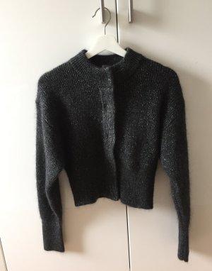 H&M Trend cropped Cardigan mit Glitzerfäden XS NEU