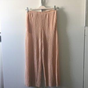 H&M Trend Culotte Plissee Rosa Puder 36