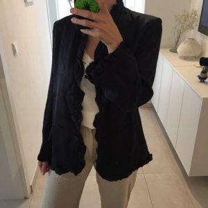 H&M Trend dunkelblauer Oversize Blazer Jacket mit Volant