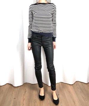 H&M Trend Echtleder Slim Fit Skinny Hose Premium Minimalism Cosy Lederhose French Style 36