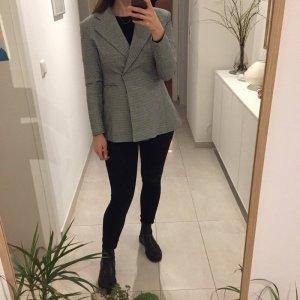 H&M Trend Figurbetonter taillierter Blazer Jacket Hahenentritt Muster
