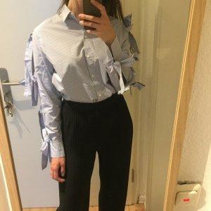 H&M Trend gestreiftes Hemd Bluse mit Bindebändern