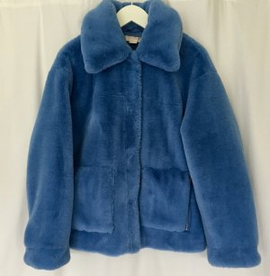 H&M Trend hellblaue Faux Fur Jacke Gr. 40