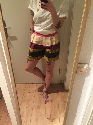 H&M Trend High Waist Shorts Streifen Blockstreifen Bunt neu!