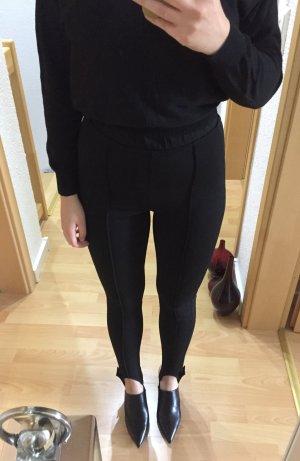 H&M Vastgebonden broek zwart-zilver