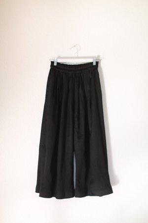 H&M Falda pantalón de pernera ancha negro