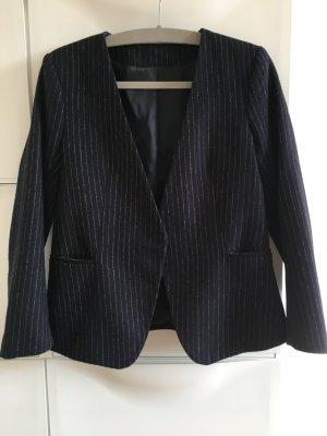 H&M Trend Jacket gestreift Wollgemisch