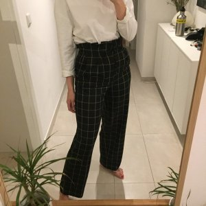 H&M Trend Karierte Anzughose Wideleg High Waist Karo Muster