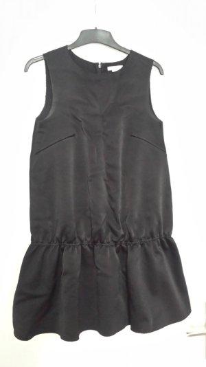 H&M Vestido peplum negro Viscosa