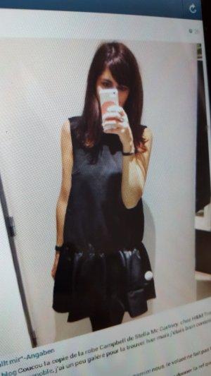 H&M Peplum Dress black viscose