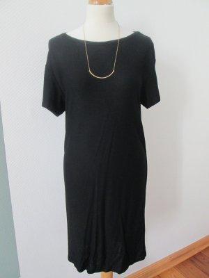 H&M Trend Kleid Jersey mit Rückenausschnitt Cutout schwarz Gr. 36